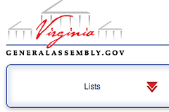 The House members listing is a different user experience / visual venue that retains branding and themes from the main website, while allowing users to interact and export custom listings of Virginia Delegates.