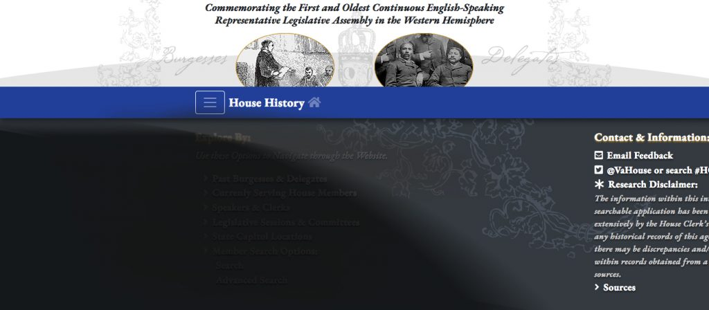 Collage of House History application screenshots