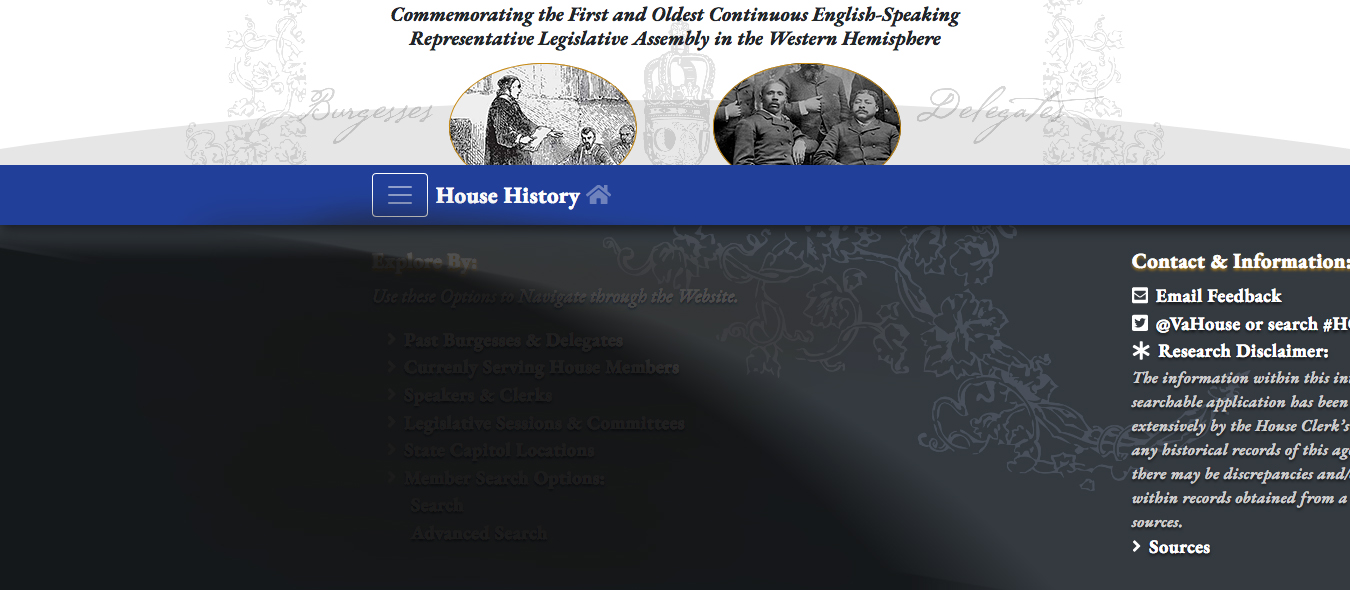 400th Anniversary Historical Web Application (2019)